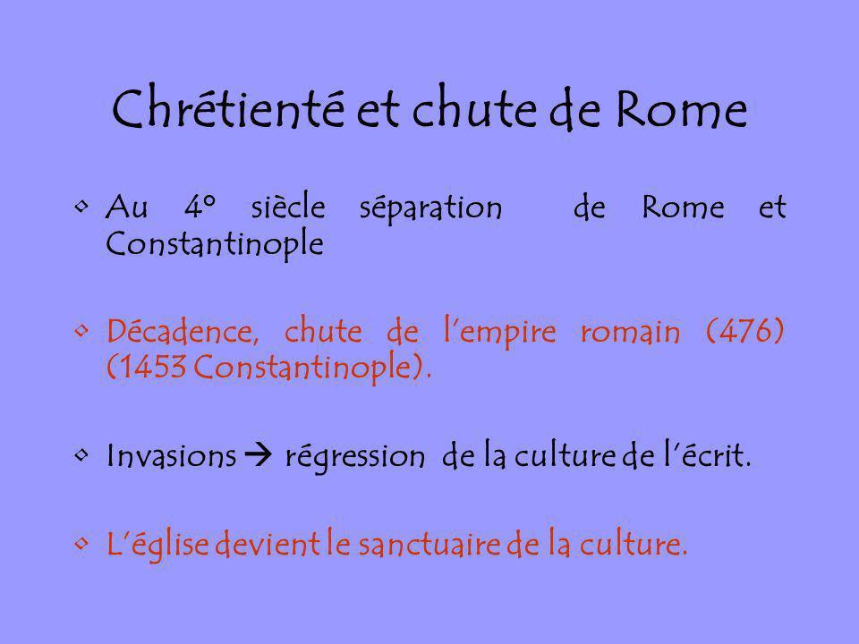Chrétienté et chute de Rome