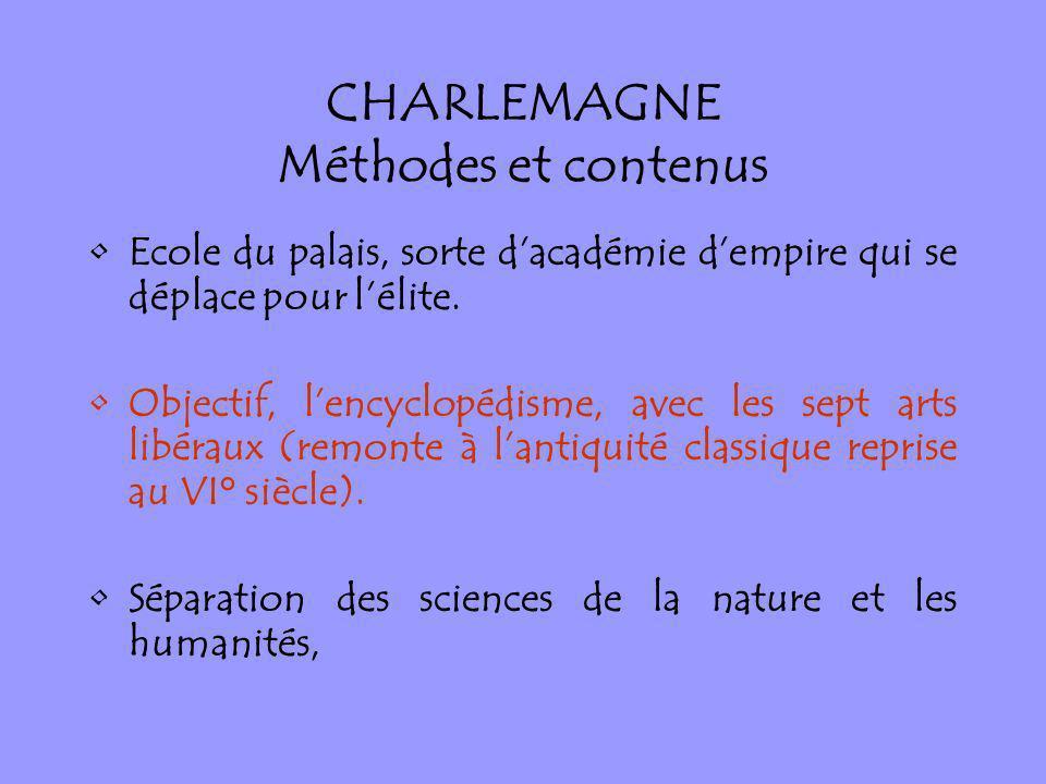 CHARLEMAGNE Méthodes et contenus