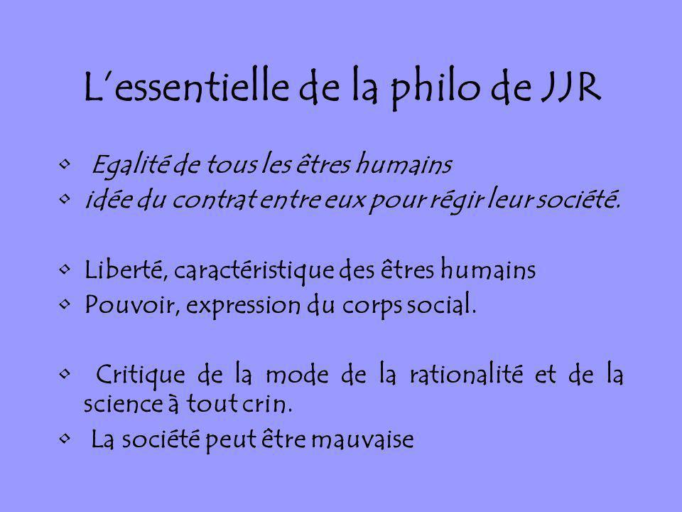 L'essentielle de la philo de JJR