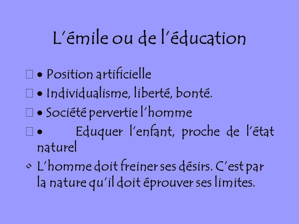 L'émile ou de l'éducation
