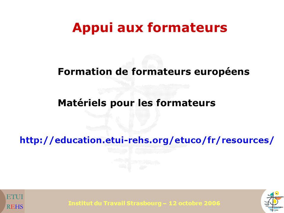 Appui aux formateurs Formation de formateurs européens
