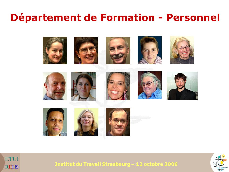 Département de Formation - Personnel