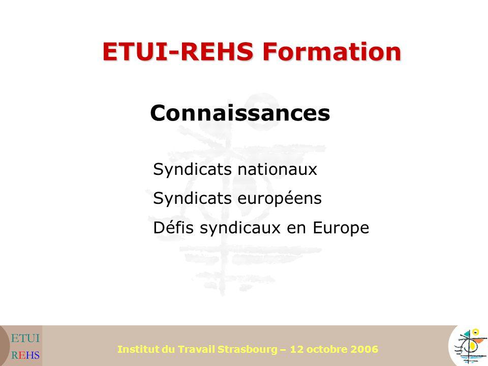 ETUI-REHS Formation Connaissances Syndicats nationaux