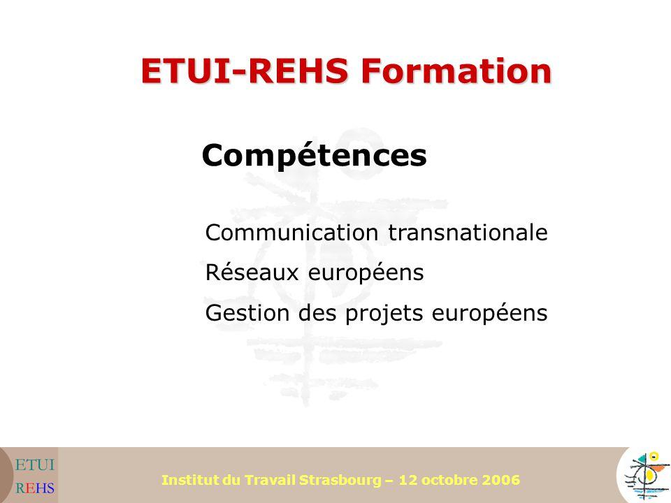 ETUI-REHS Formation Compétences Communication transnationale