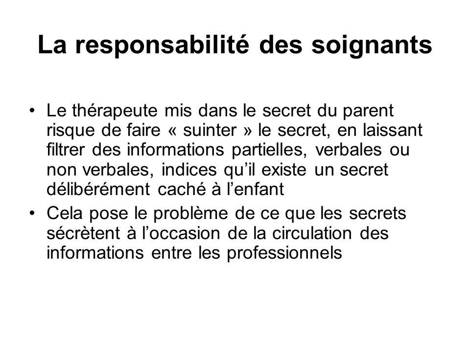 La responsabilité des soignants