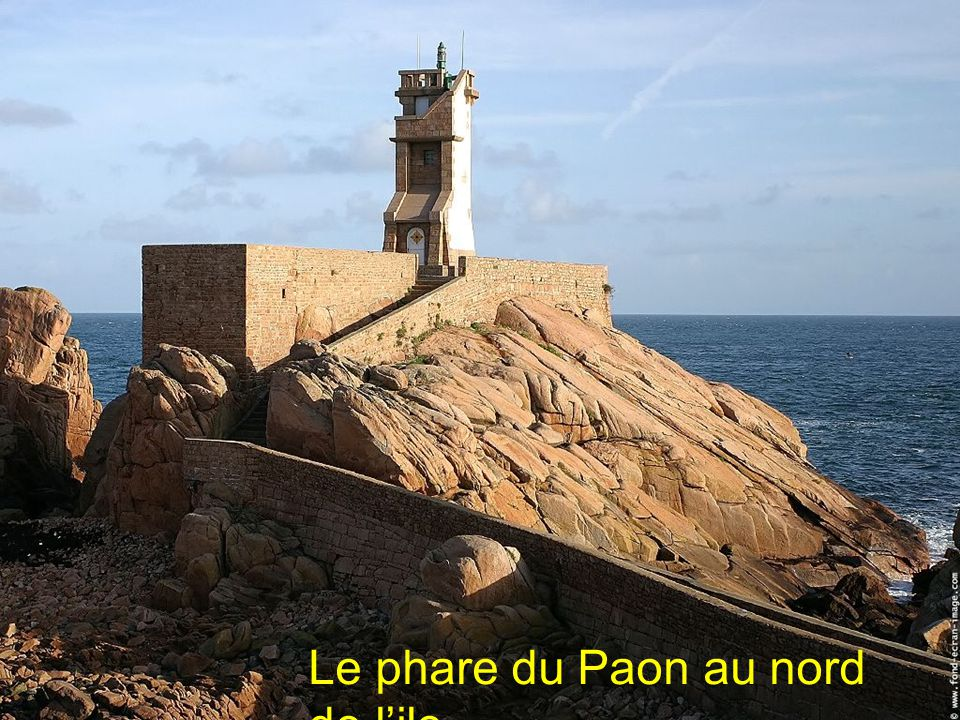 Le phare du Paon au nord de l'ile
