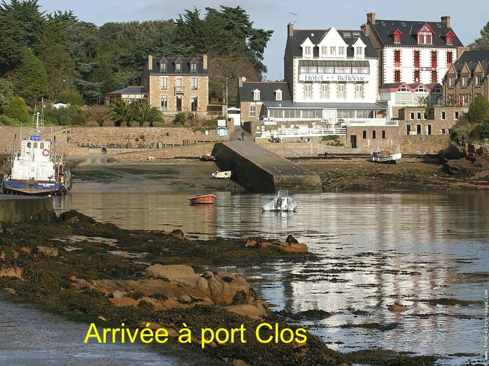 Arrivée à port Clos
