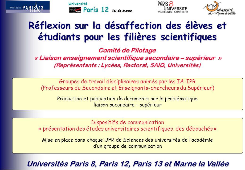 Réflexion sur la désaffection des élèves et étudiants pour les filières scientifiques