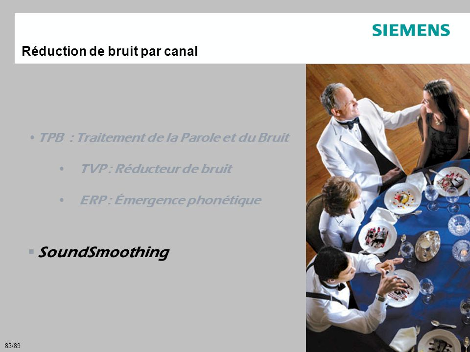 SoundSmoothing Réduction de bruit par canal