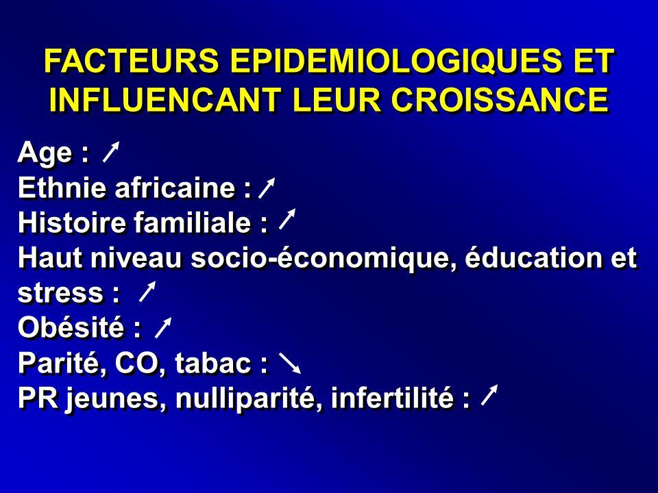 FACTEURS EPIDEMIOLOGIQUES ET INFLUENCANT LEUR CROISSANCE