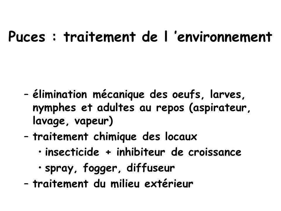 Puces : traitement de l 'environnement