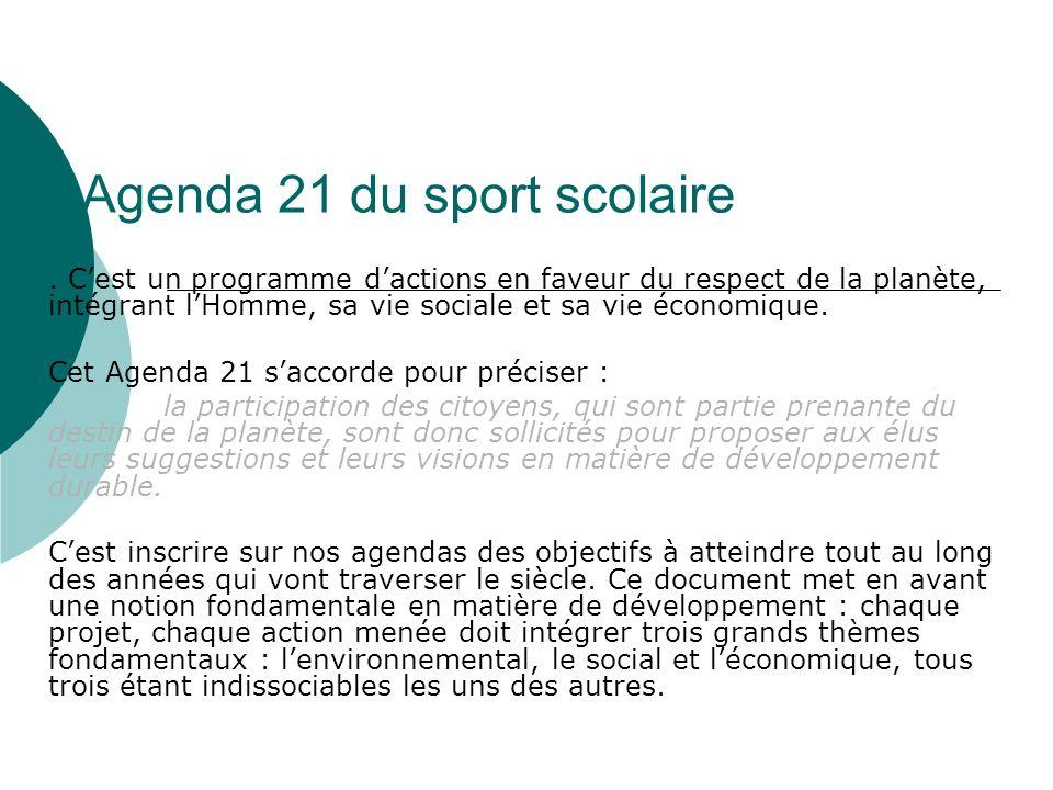 Agenda 21 du sport scolaire