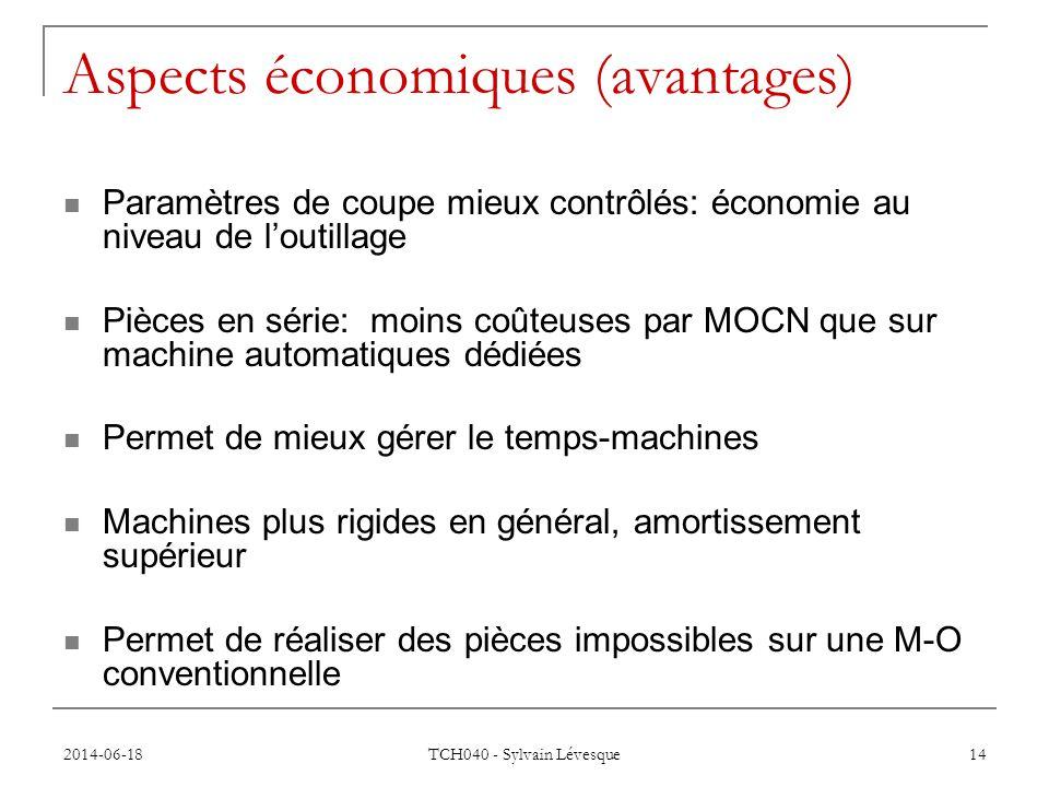Aspects économiques (avantages)