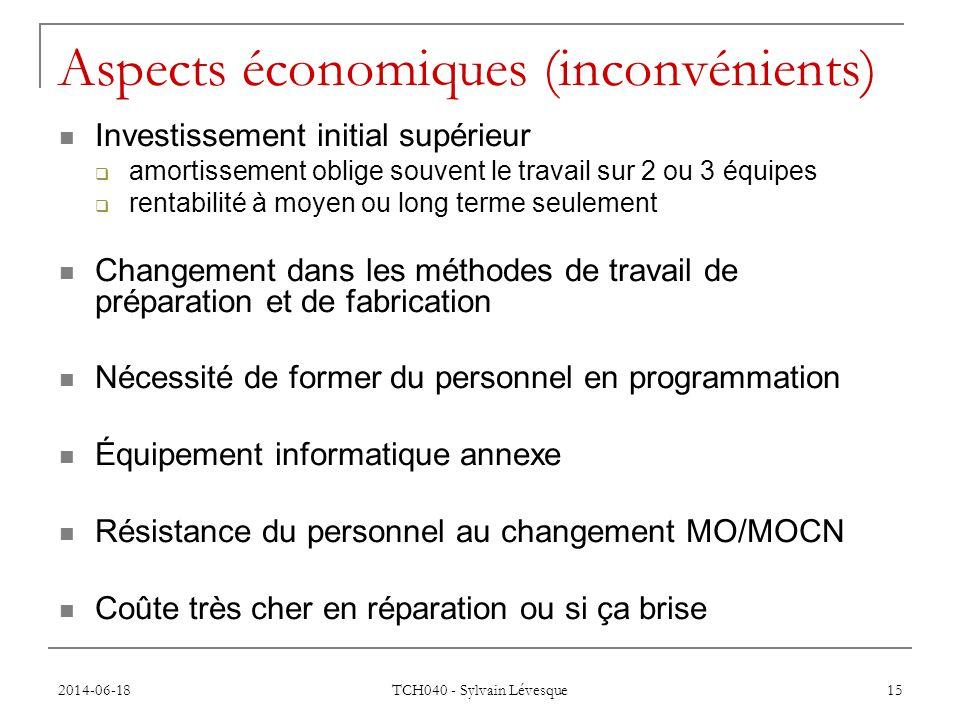 Aspects économiques (inconvénients)
