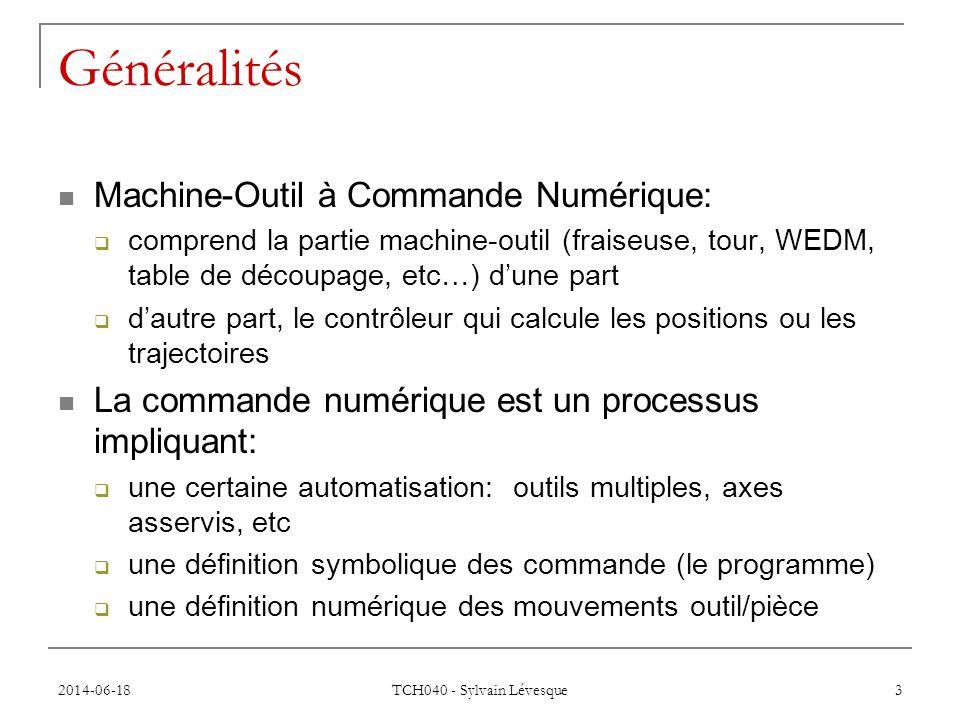 Généralités Machine-Outil à Commande Numérique: