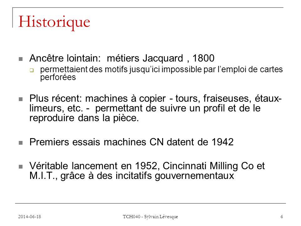 Historique Ancêtre lointain: métiers Jacquard , 1800