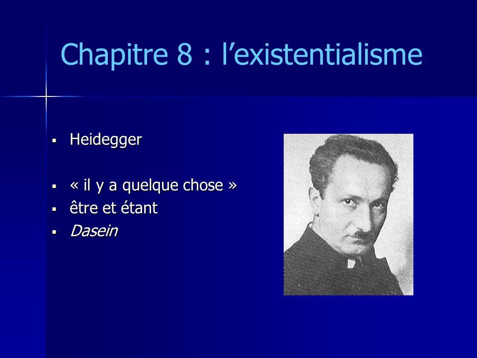 Chapitre 8 : l'existentialisme