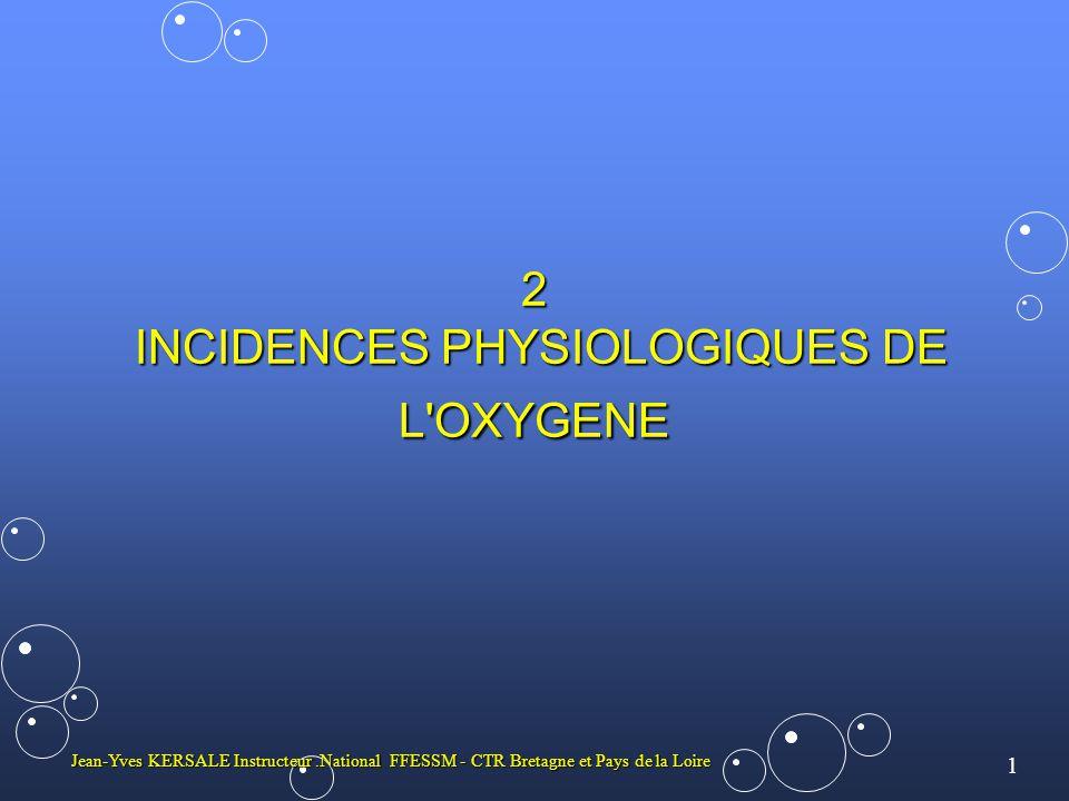 2 INCIDENCES PHYSIOLOGIQUES DE L OXYGENE