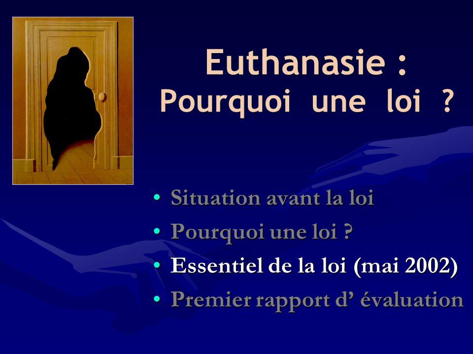 Euthanasie : Pourquoi une loi
