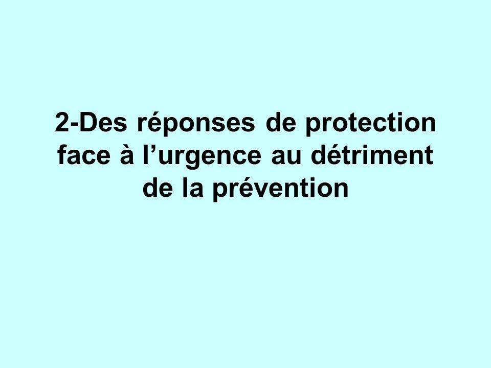 2-Des réponses de protection face à l'urgence au détriment de la prévention
