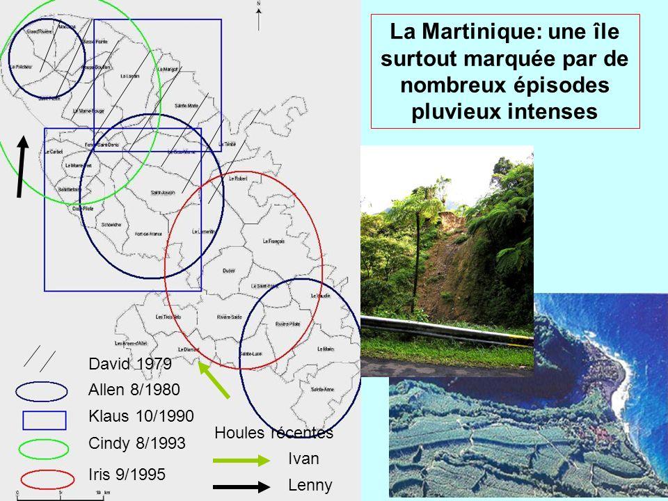 La Martinique: une île surtout marquée par de nombreux épisodes pluvieux intenses