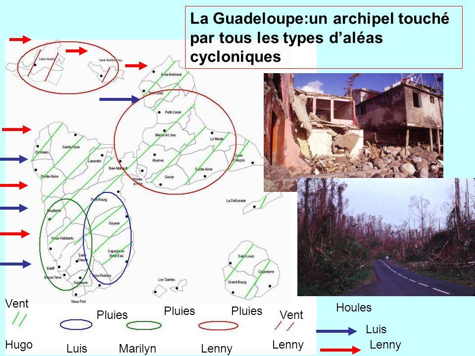 La Guadeloupe:un archipel touché par tous les types d'aléas cycloniques
