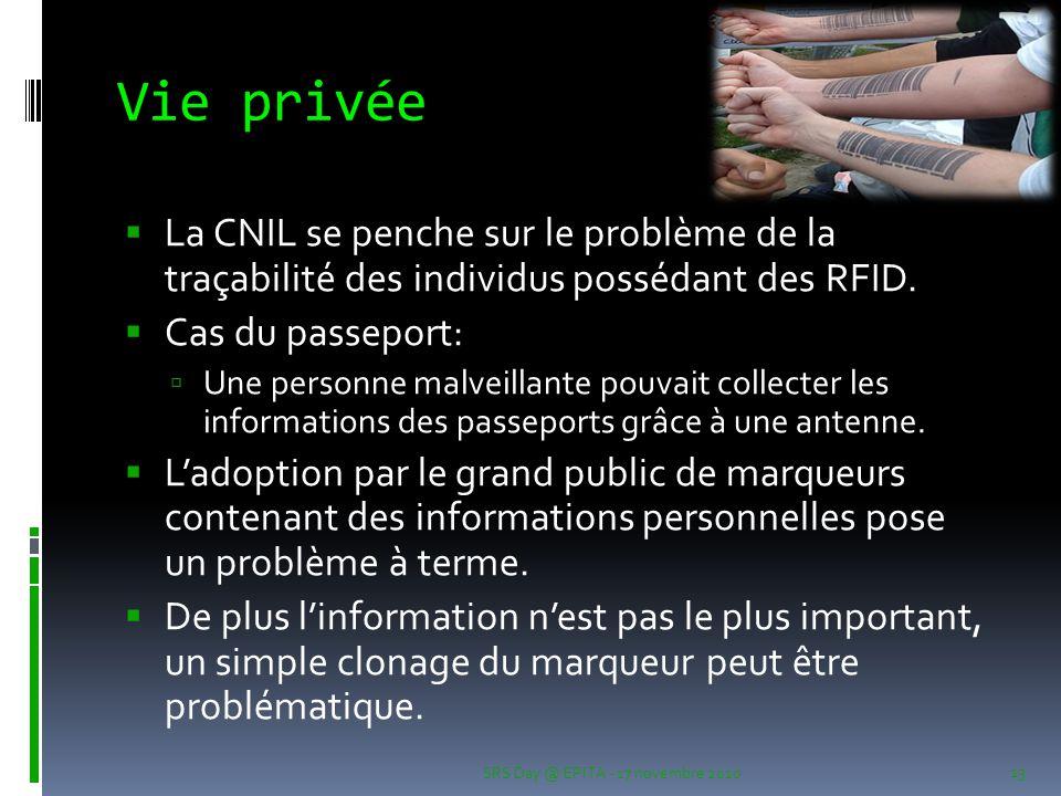 Vie privée La CNIL se penche sur le problème de la traçabilité des individus possédant des RFID. Cas du passeport: