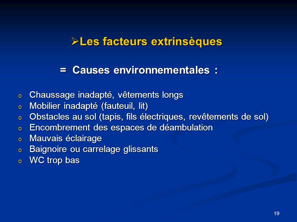 Les facteurs extrinsèques
