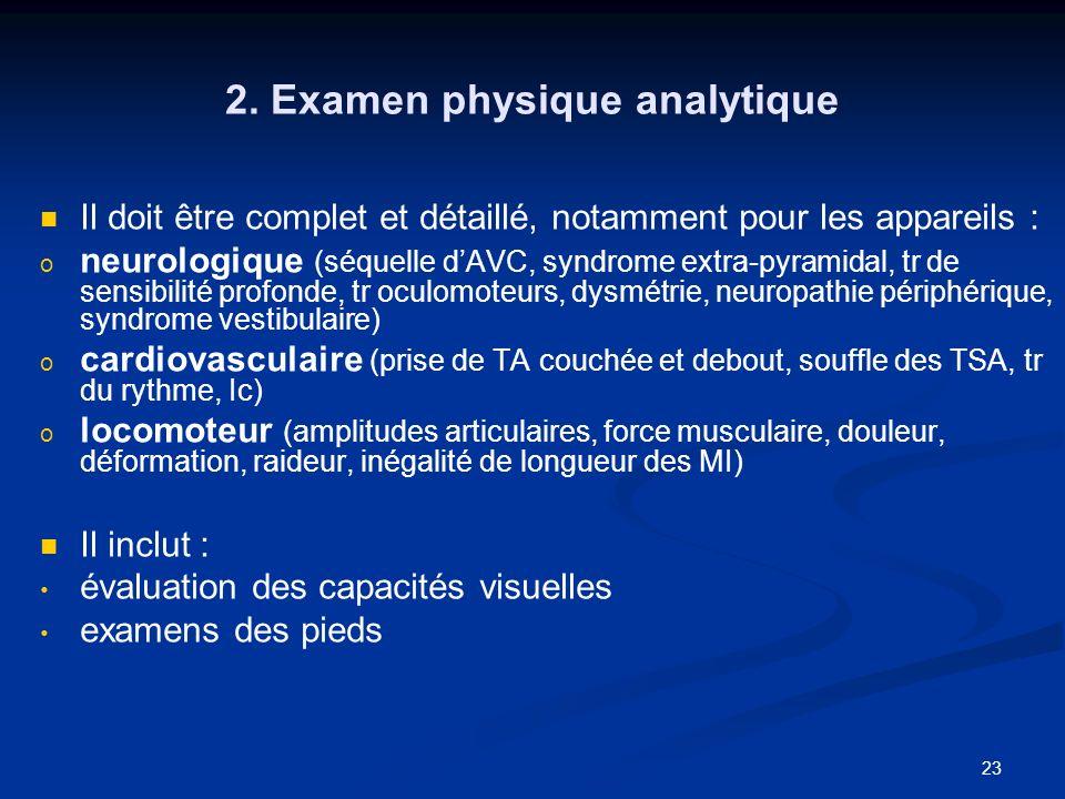 2. Examen physique analytique
