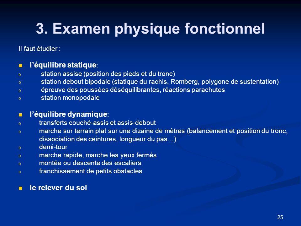 3. Examen physique fonctionnel