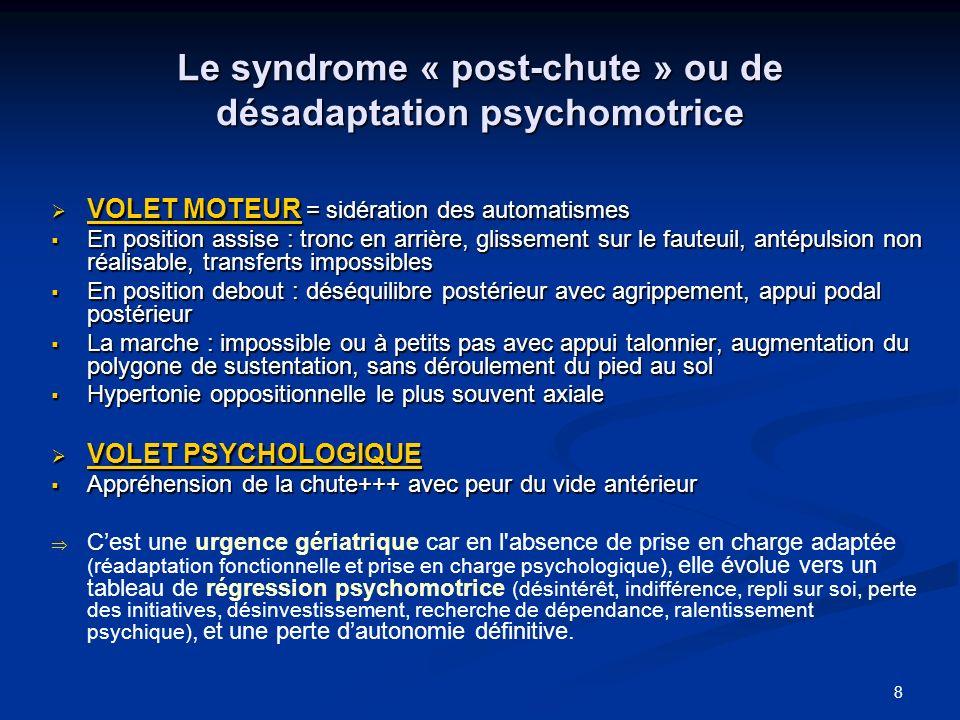 Le syndrome « post-chute » ou de désadaptation psychomotrice