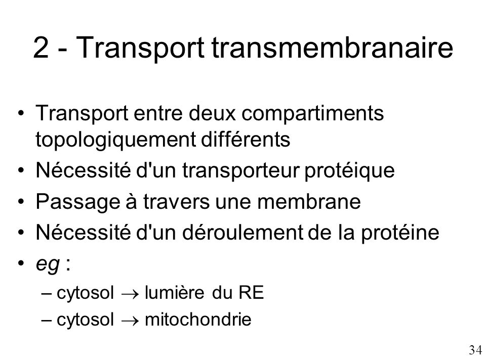 2 - Transport transmembranaire