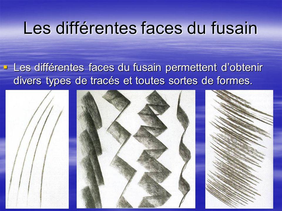 Les différentes faces du fusain