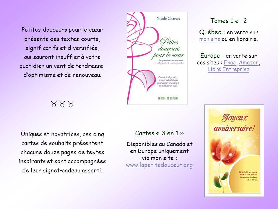 Québec : en vente sur mon site ou en librairie.