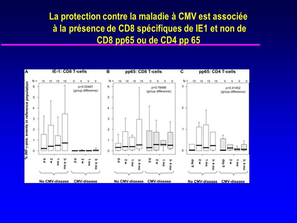 La protection contre la maladie à CMV est associée
