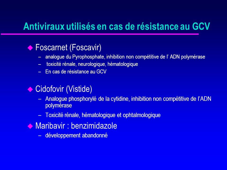 Antiviraux utilisés en cas de résistance au GCV