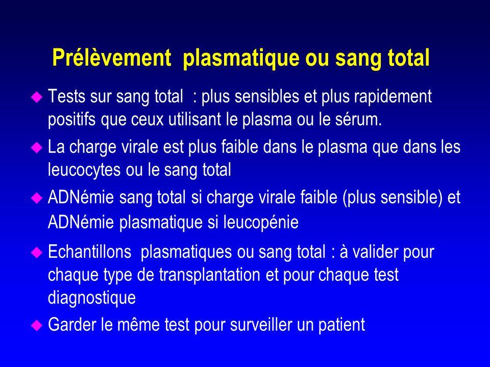Prélèvement plasmatique ou sang total