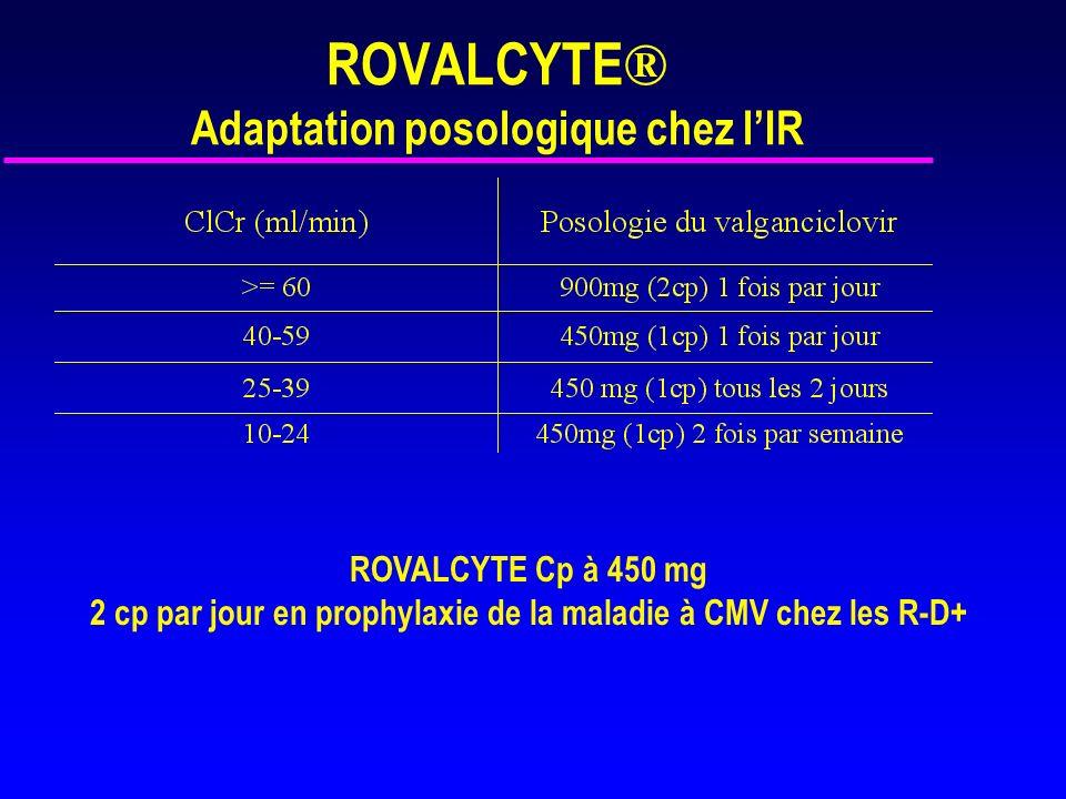 ROVALCYTE® Adaptation posologique chez l'IR
