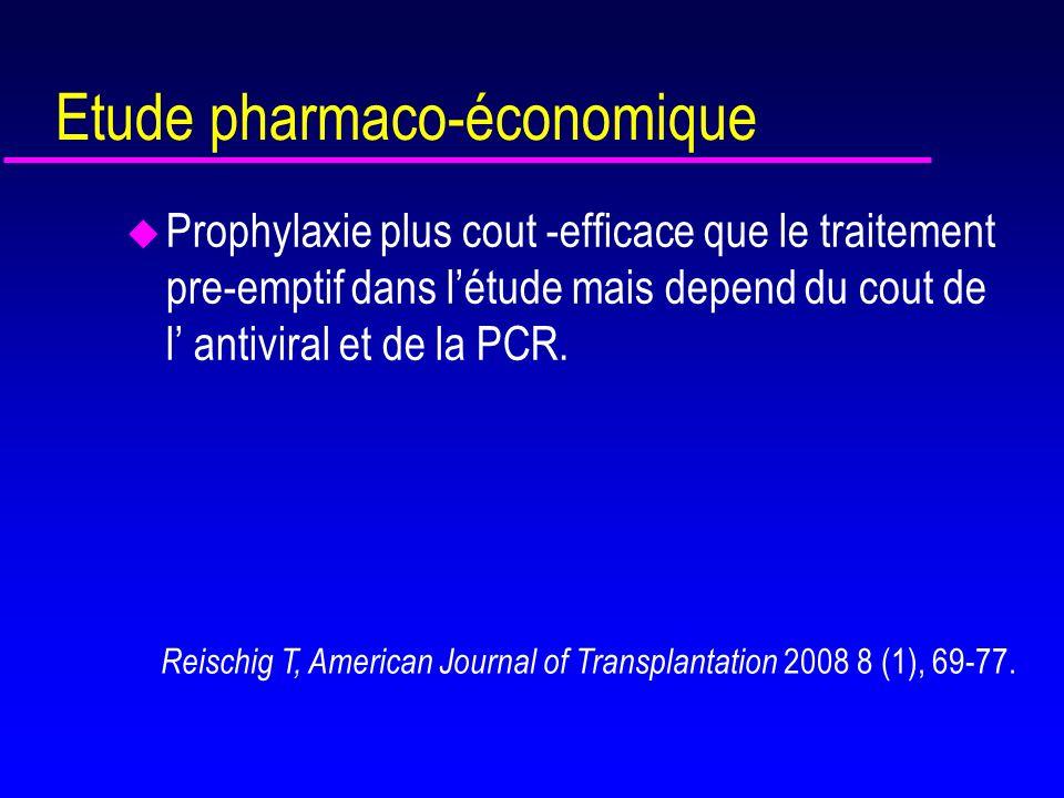 Etude pharmaco-économique