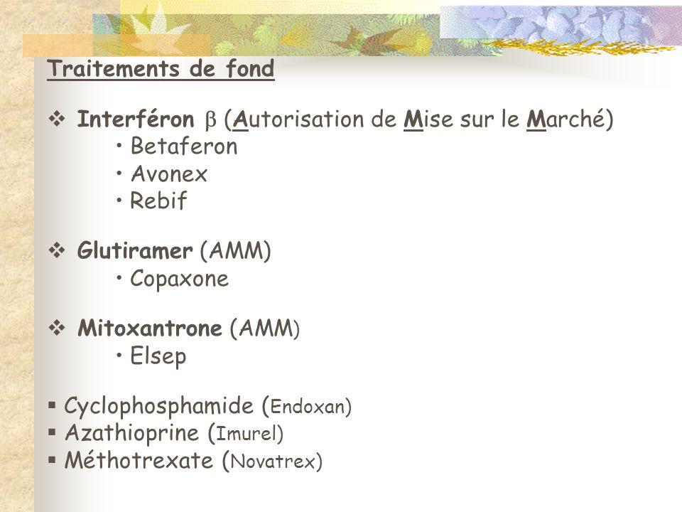 Interféron  (Autorisation de Mise sur le Marché) Betaferon Avonex