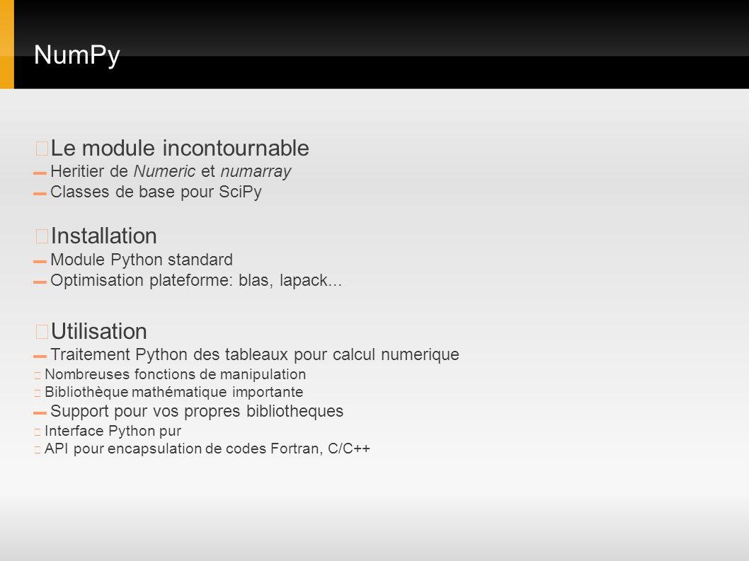 NumPy ▶Le module incontournable ▶Installation ▶Utilisation