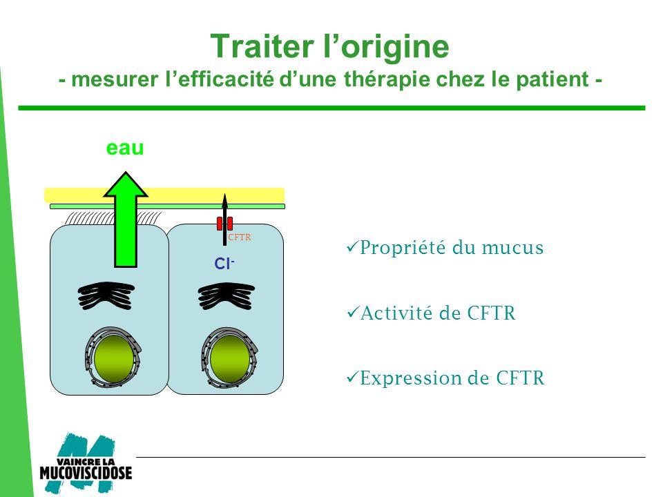 Traiter l'origine - mesurer l'efficacité d'une thérapie chez le patient -
