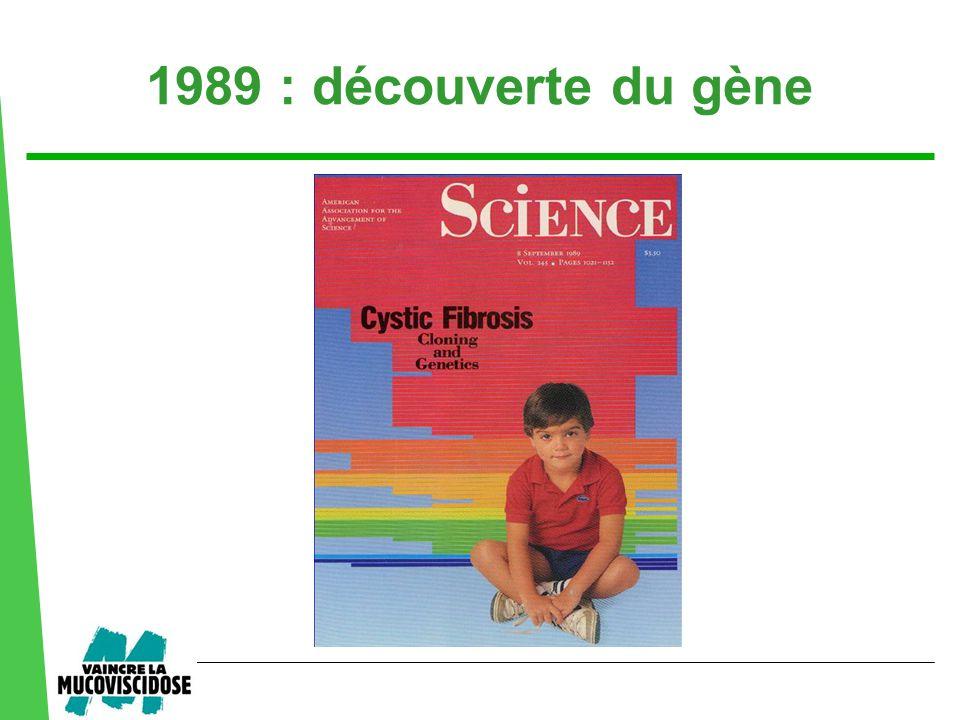 1989 : découverte du gène