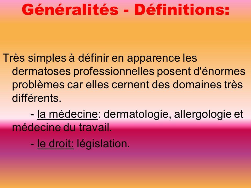Généralités - Définitions: