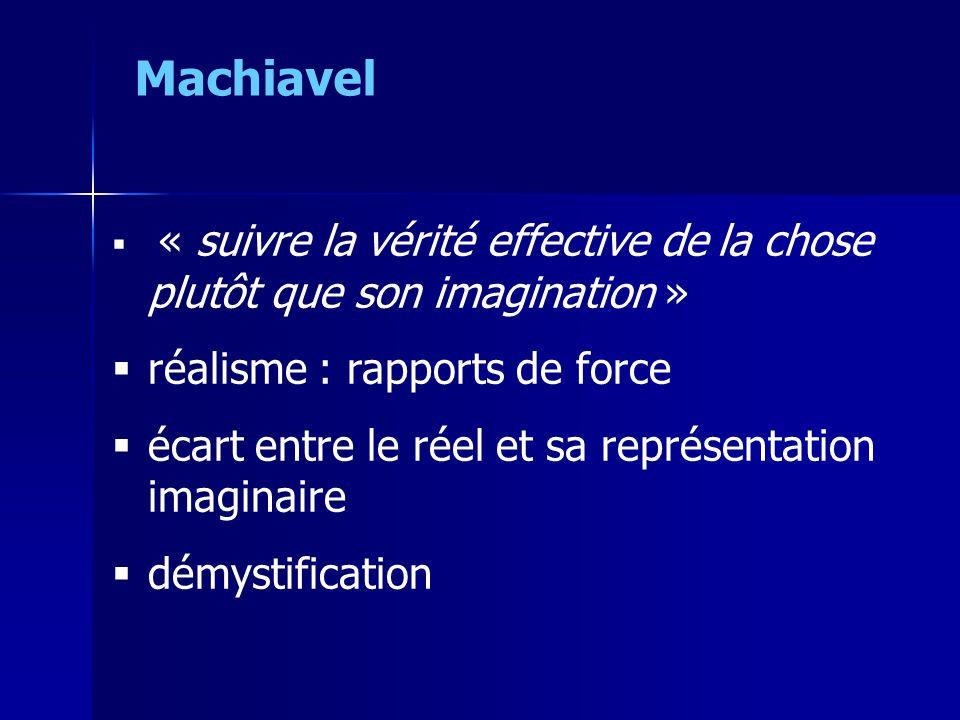 Machiavel réalisme : rapports de force
