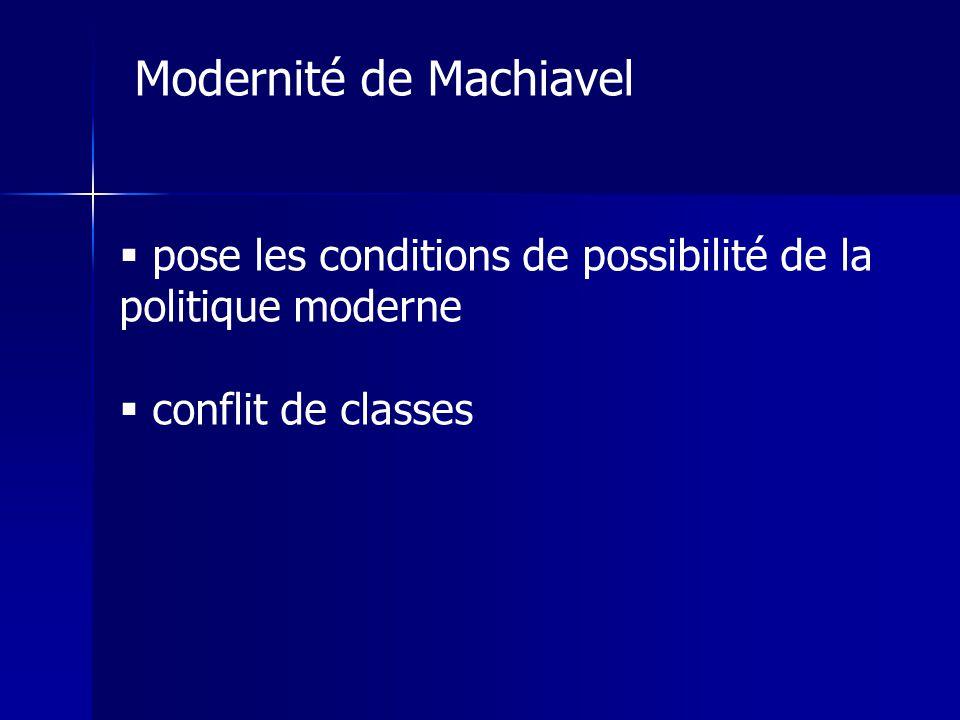 Modernité de Machiavel