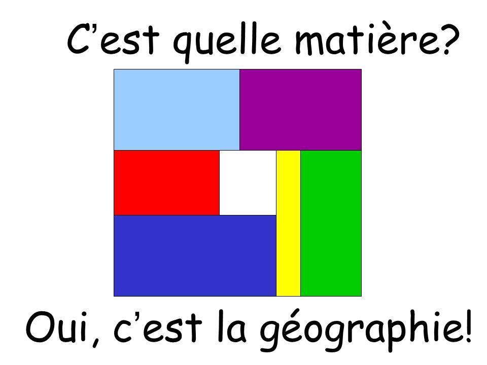 Oui, c'est la géographie!