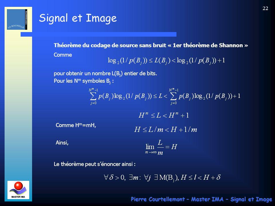 Théorème du codage de source sans bruit « 1er théorème de Shannon »