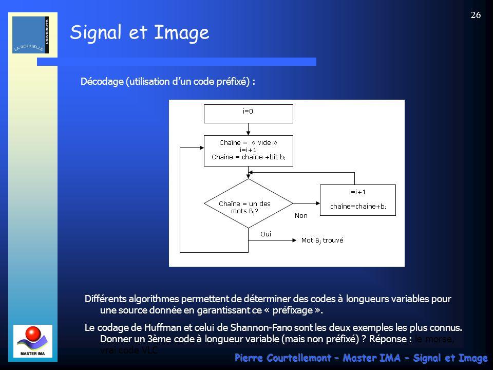 Décodage (utilisation d'un code préfixé) :