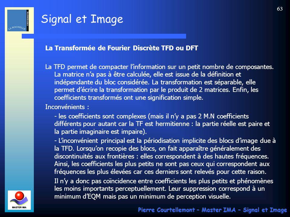 La Transformée de Fourier Discrète TFD ou DFT